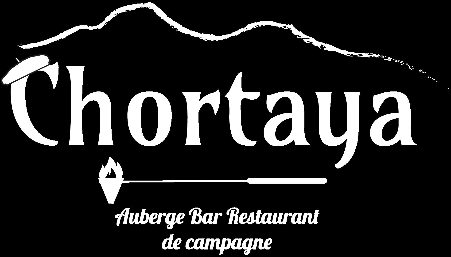 logo auberge chortaya blanc
